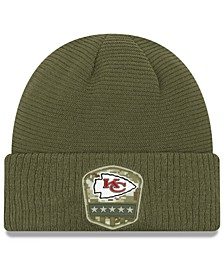 Kansas City Chiefs On-Field Salute To Service Cuff Knit Hat
