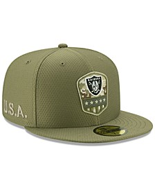 Oakland Raiders On-Field Salute To Service 59FIFTY Fitted Cap