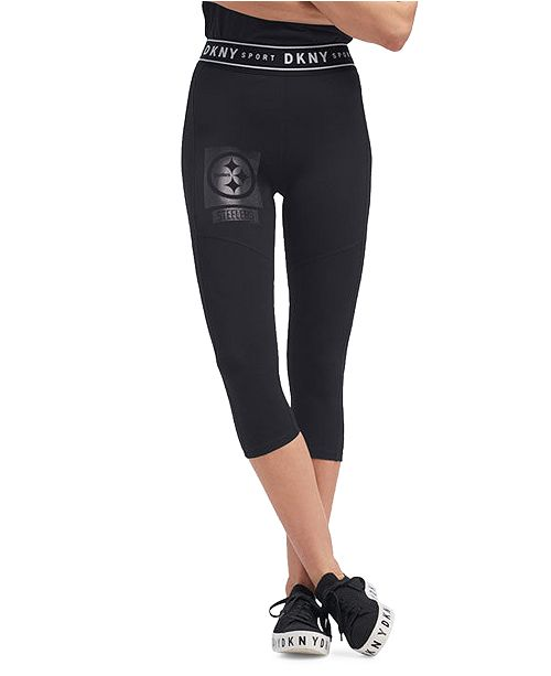 Lids DKNY Women's Pittsburgh Steelers Karan Capri Leggings