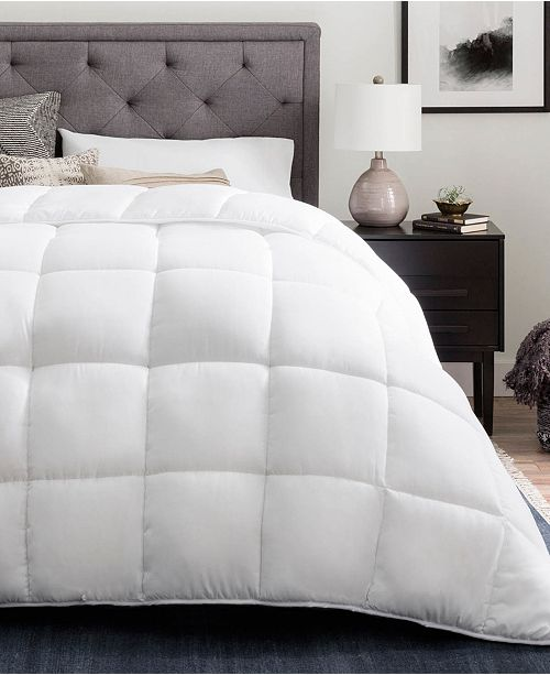 Brookside Down Alternative Quilted Comforter with Duvet Tabs, Oversized King