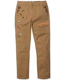 Men's Wildlife Khaki Big & Tall Slim-Straight Stretch Pants