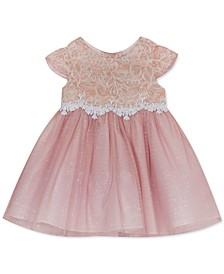 Baby Girls Sparkle Lace Mesh Dress