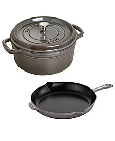 Cast Iron 3-Pc. Cocotte and Fry Pan Set