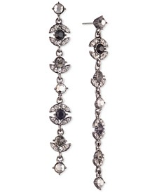 Pavé & Stone Linear Drop Earrings