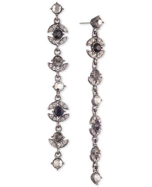 Givenchy Pavé & Stone Linear Drop Earrings