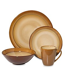 Roma Ceramic Caramel 16 Piece Dinnerware Set