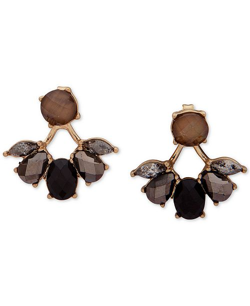 lonna & lilly Gold-Tone Multi-Stone Floater Earrings