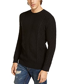Men's Diamond Cable-Knit Sweater