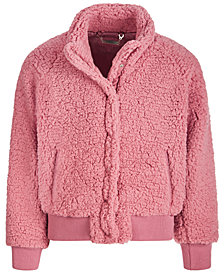 Jou Jou Big Girls Fleece Snap Jacket
