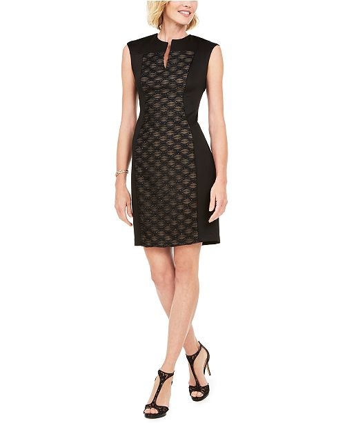 Connected Petite Textured Sheath Dress