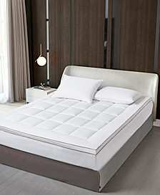 ELLE DÉCOR Cotton Gusseted Mattress Topper Queen