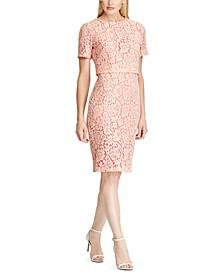 Floral Lace Popover Dress