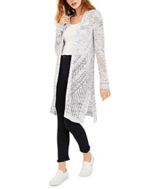 Juniors' Pointelle Cardigan
