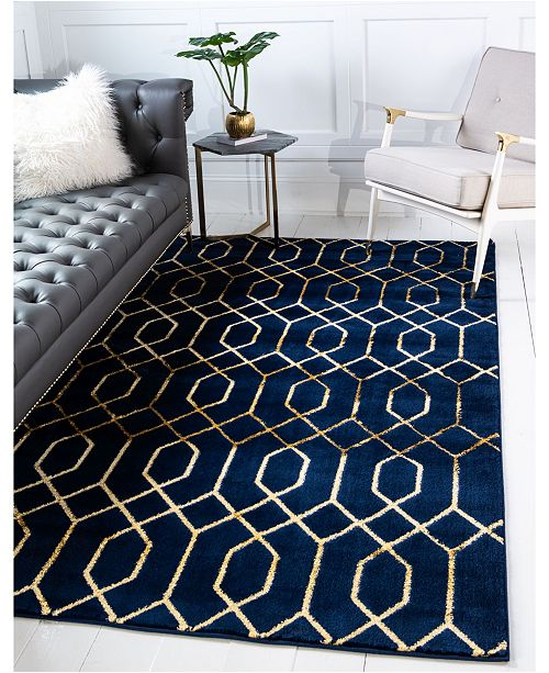 Marilyn Monroe Glam Mmg001 Navy Blue/Gold 2' x 3' Area Rug