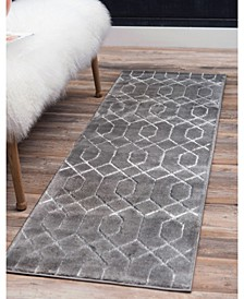 Glam Mmg001 Gray/Silver 2' x 10' Area Rug