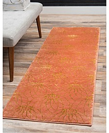 Glam Mmg003 Coral 2' x 6' Runner Rug
