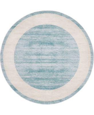 Yorkville Uptown Jzu007 Turquoise 8' x 8' Round Rug
