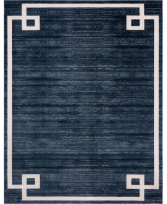 Lenox Hill Uptown Jzu005 Navy Blue 8' x 10' Area Rug