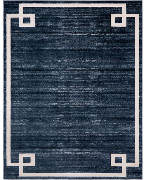 Jill Zarin Lenox Hill Uptown Jzu005 Navy Blue 8' x 10' Area Rug