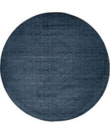 Park Avenue Uptown Jzu004 Navy Blue 8' x 8' Round Rug