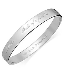 kate spade new york Bridesmaid Engraved Idiom Bangle Bracelet