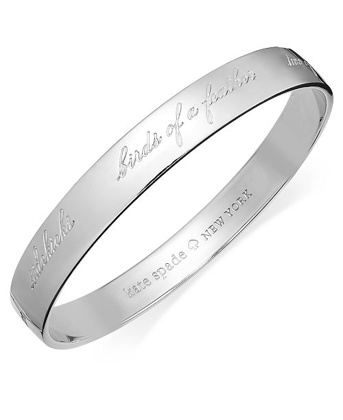 Kate Spade New York Bridesmaid Engraved Idiom Bangle Bracelet Fashion Jewelry Watches Macy S
