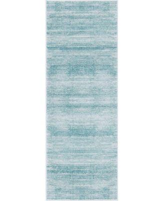 "Madison Avenue Uptown Jzu001 Turquoise 2'2"" x 6' Runner Rug"