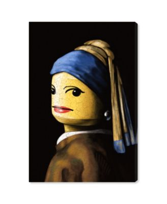 Toy with The Pearl Earring Canvas Art, 30