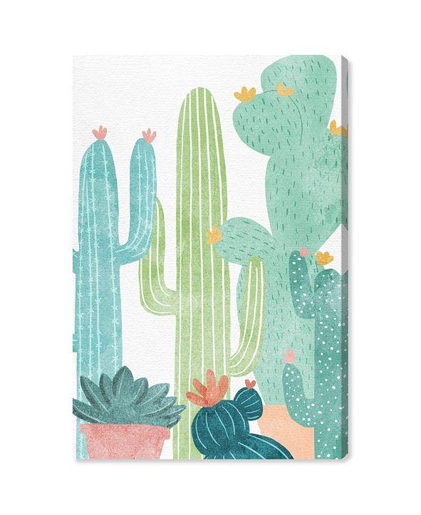 "Oliver Gal Cactus All Around Canvas Art, 10"" x 15"""