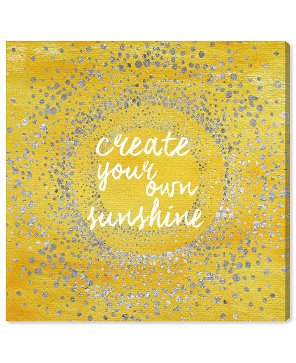 """Oliver Gal Your Own Sunshine Canvas Art, 16"""" x 16"""""""