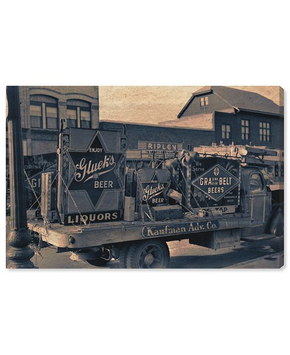 """Oliver Gal Beer Truck Canvas Art, 24"""" x 16"""""""