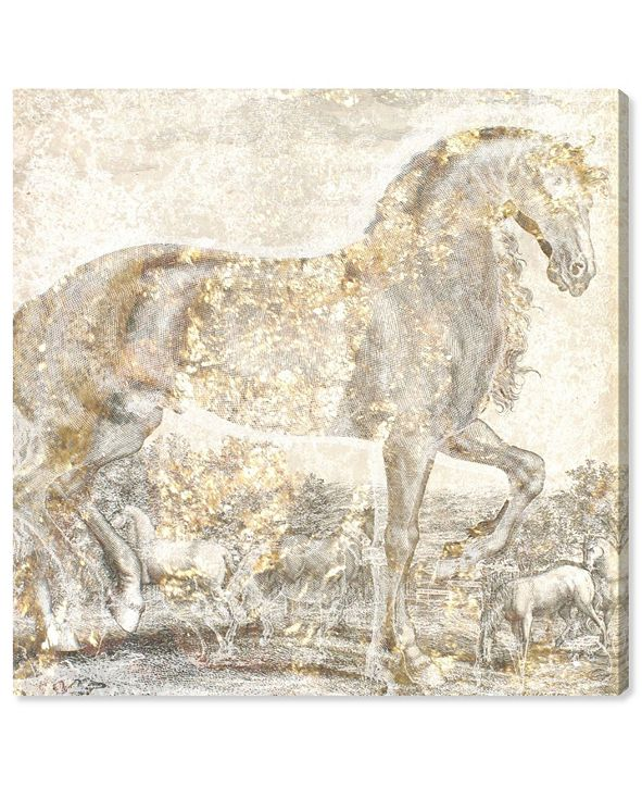 "Oliver Gal Brilliant Equestrian Canvas Art, 12"" x 12"""