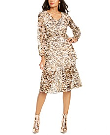 Animal-Print Peasant Dress, Created for Macy's