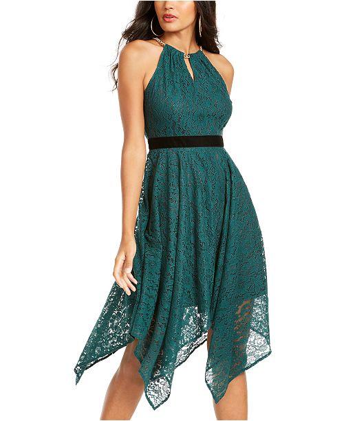 Thalia Sodi Chain-Neck Lace Dress, Created For Macy's