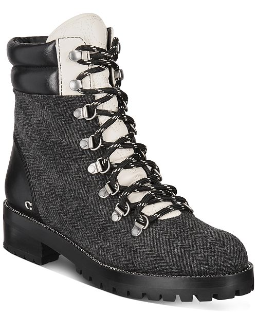 COACH Women's Lorren Lace-Up Booties