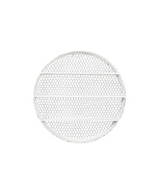 Round Metal Wall Dcor with 4 Shelves Wire Back