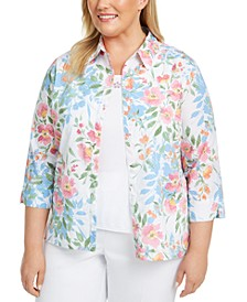 Plus Size Garden Party Layered Top