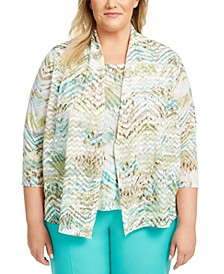 Plus Size Cottage Charm Layered-Look Top