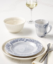 Classic Brush Dinnerware Collection, Created for Macy's