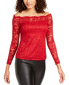 Lace Off-The-Shoulder Top, Created For Macy's