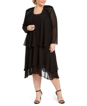 Vintage 1920s Dresses – Where to Buy Sl Fashions Plus Size Embellished Dress  Jacket $129.00 AT vintagedancer.com
