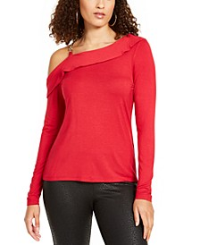 Ruffled One-Shoulder Top, Created for Macy's