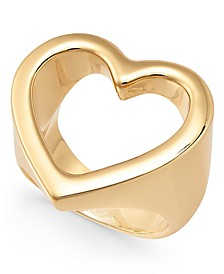 Gold-Tone Open Heart Ring, Created For Macy's