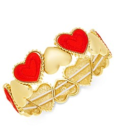 Gold-Tone Heart Stretch Bracelet, Created For Macy's