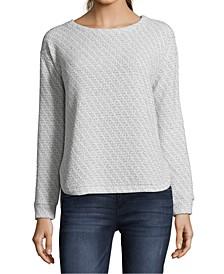 Petite Metallic Pullover Sweater