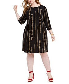Plus Size Chain Print Dress