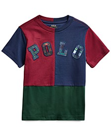 Little Boys Color-Blocked Cotton Jersey Logo T-Shirt, Created For Macy's