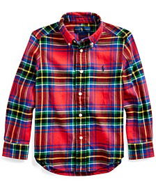 Little Boys Plaid Cotton Twill Shirt