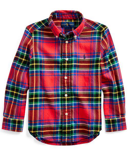 Polo Ralph Lauren Little Boys Plaid Cotton Twill Shirt
