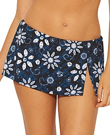 Printed Skirted Bikini Bottoms